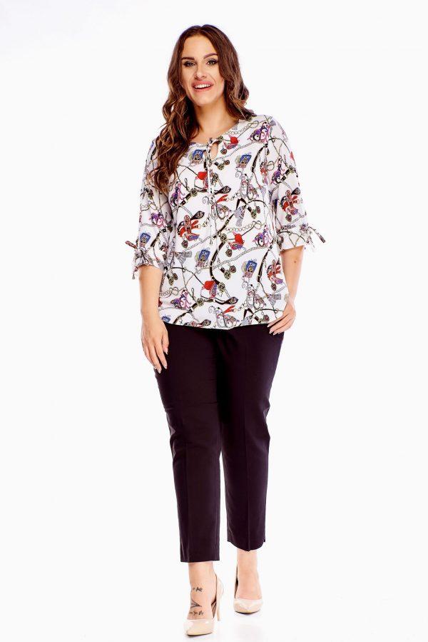 bluzki z długim rękawem plus size 525