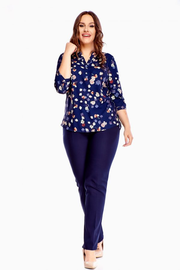 bluzki z długim rękawem plus size 511