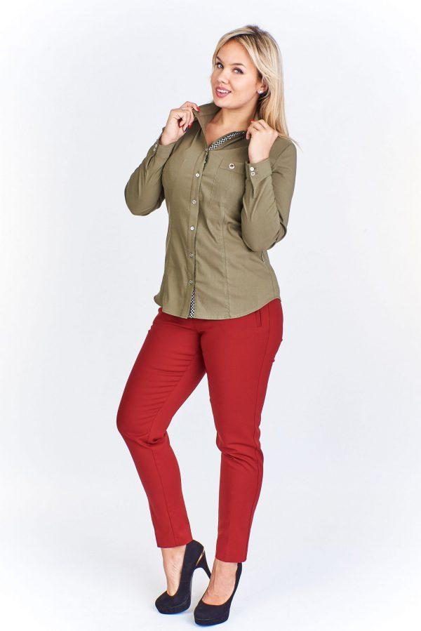 bluzki z długim rękawem plus size 504