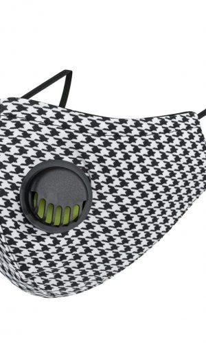 <b>MZ001</b> - Maska bawełniana 3 warstwowa na twarz M z zaworkiem oddechowym