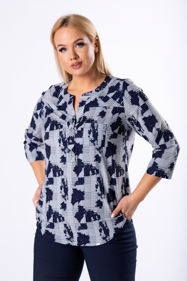 bluzki plus size damskie 523