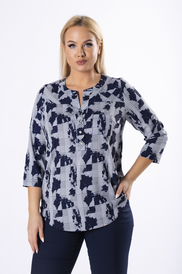 bluzki plus size damskie 521