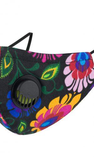 <b>MZ006</b> - Maska bawełniana 3 warstwowa na twarz M z zaworkiem oddechowym