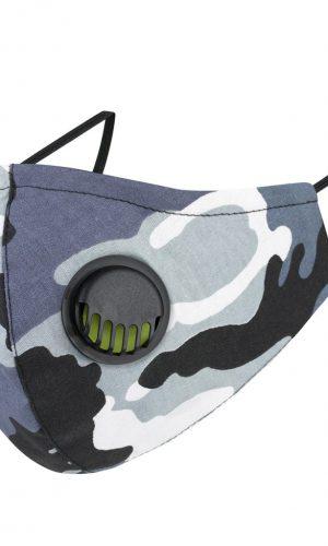 <b>MZ007</b> - Maska bawełniana 3 warstwowa na twarz M z zaworkiem oddechowym