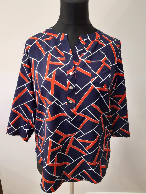 bluzki eleganckie plus size 996